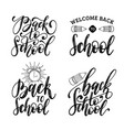 back to school hand lettering prints set vector image