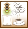 Time for coffee Cup vector image