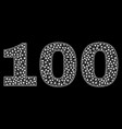 100 text in polygonal mesh style vector image vector image