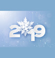 2019 merry christmas and happy new year greetings vector image vector image