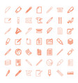 49 pen icons vector image vector image
