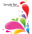 A splash of various colors vector image