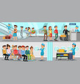 airport horizontal banners vector image
