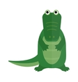 Australian saltwater green crocodile cartoon flat vector image vector image