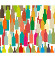 Background with bottles COLORS vector image vector image