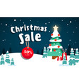 beautiful christmas poster with tree and gifts vector image vector image