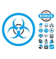 Bio Hazard Flat Icon with Bonus vector image vector image
