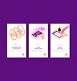 biometrics vertical banners set vector image vector image