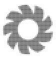 black pixel turbine icon vector image