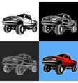 car truck 4x4 pickup off-road vector image vector image