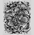 cartoon doodles underwater world funny vector image vector image