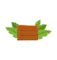 cartoon rectangle wood board with blank copy space vector image vector image