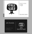 cartoon tree emblem vector image vector image