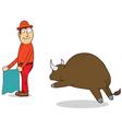 Challenging buffalo vector image