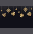 christmas and new year background golden vector image vector image
