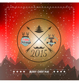 Christmas Greeting Card for happy Holiday flyers vector image vector image