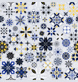 christmas snowflakes pattern vector image vector image
