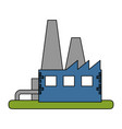 color image building industrial factory vector image vector image
