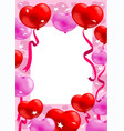 colorful romantic greeting card vector image