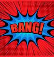 comic bright super template vector image vector image
