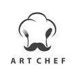 Concept of chefs hat with fork and spoon vector image vector image