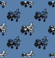 cool airplane seamless pattern vector image vector image