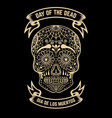 day of the dead dia de los muertos sugar skull vector image vector image