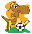 Dinosaur Football vector image vector image