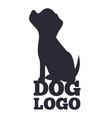 dog lolo black and white card vector image vector image