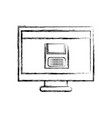 figure computer technology with screen and vector image vector image