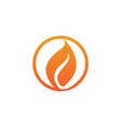 fire flame simple logo vector image