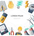 flat power and energy industry concept vector image