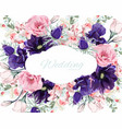 floral frame with summer spring flowers vector image vector image