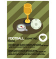 football color isometric poster vector image vector image