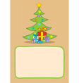 Gifts and christmas tree vector image vector image