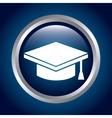 graduate hat vector image vector image