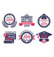 graduate student badge congratulations graduates vector image