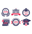 graduate student badge congratulations graduates vector image vector image