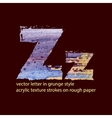 grungy letter Z vector image
