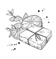 Handmade natural soap hand drawn cosmetic vector image vector image