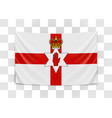 hanging flag northern ireland northern ireland vector image vector image