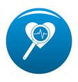 heart icon blue vector image