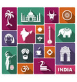 icons india vector image vector image