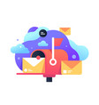 isolated classic mailbox with letter icon for post vector image