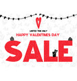 limited time only happy valentines day sale card vector image