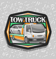logo for tow truck vector image vector image