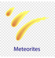 meteorites icon flat style vector image vector image
