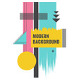 modern geometric background glitch effect vector image vector image