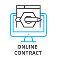 online contract thin line icon sign symbol vector image vector image