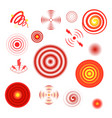 pain circles healthcare red stylized graphic vector image vector image